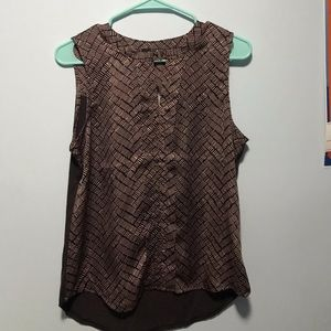 The Limited Brown Sleeveless Top